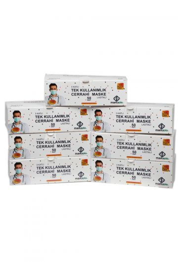 3 LAYER SURGICAL FACE PROTECTIVE MASK WHITE 350 PCS - Thumbnail