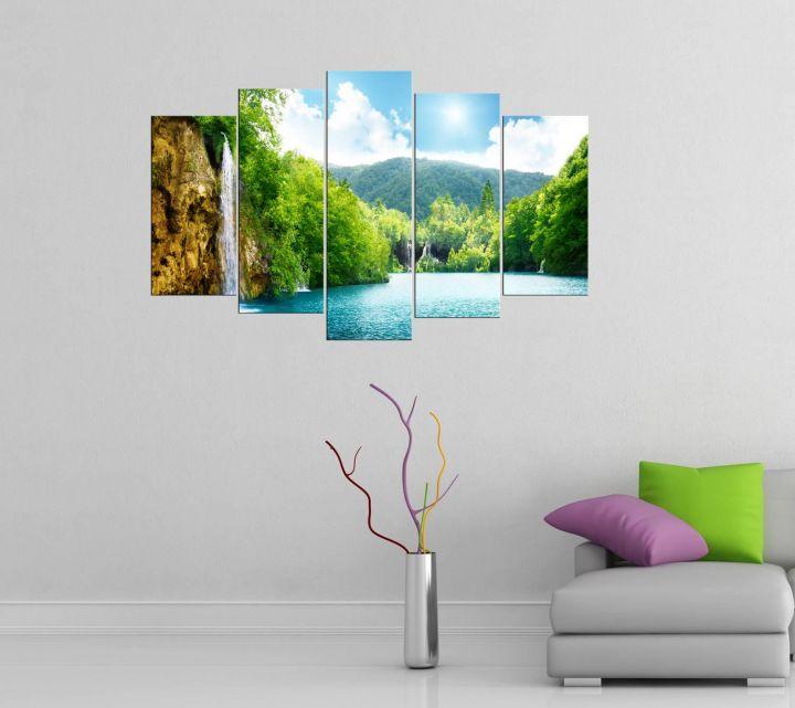 Картина из 5 частей Mdf Sunny Nature View