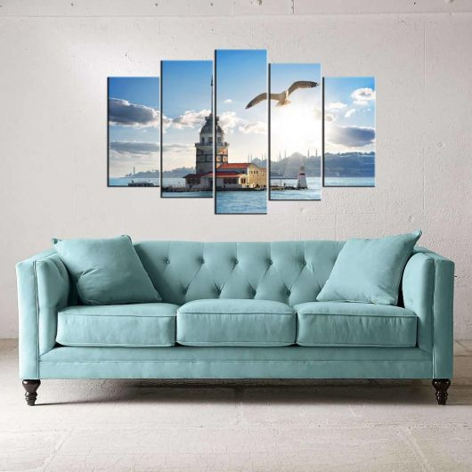 Maiden Tower 5 Piece Mdf Painting - Thumbnail