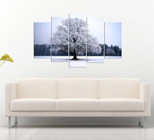 5 Piece Mdf Table with Snow View - Thumbnail