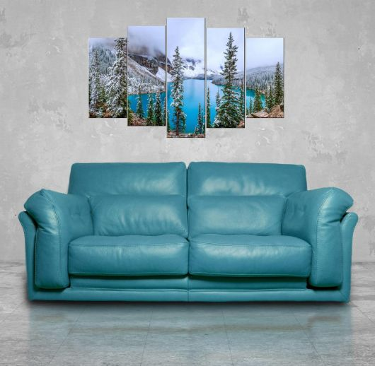 Nature View 5 Piece Mdf Painting - Thumbnail