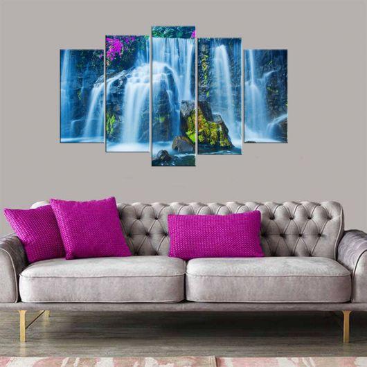 Стол из МДФ с видом на водопад, 5 частей - Thumbnail