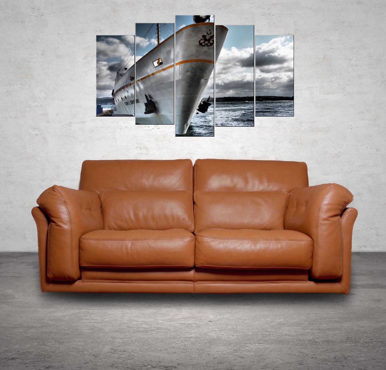 Gemi Manzaralı 5 Parçalı Mdf Tablo