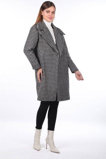 MARKAPİA WOMAN - معطف منقوش بنقشة مربعات (1)