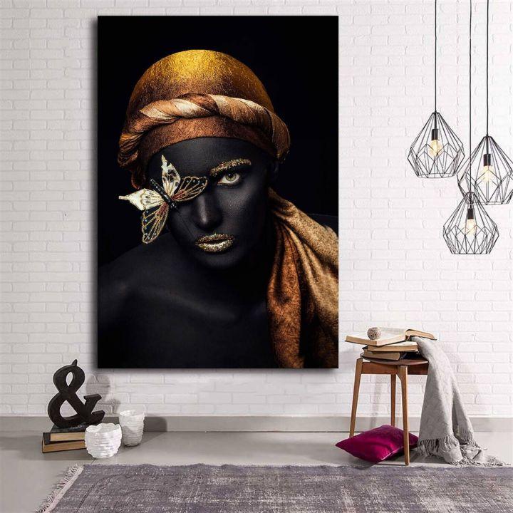 Африканская женщина холст