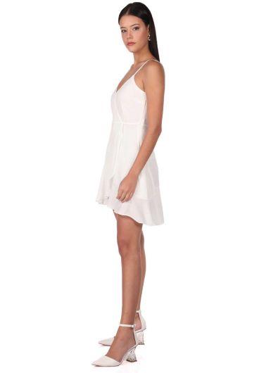 MARKAPIA WOMAN - Askılı Beyaz Elbise (1)