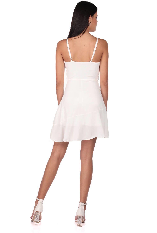 Askılı Beyaz Elbise