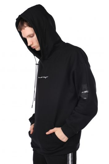 MARKAPIA MAN - Oversized Men's Hooded Sweatshirt with a Print on the Back (1)