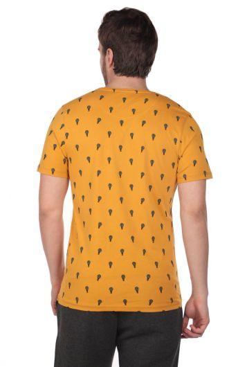 Balloon Pattern Men's Crew Neck T-Shirt - Thumbnail