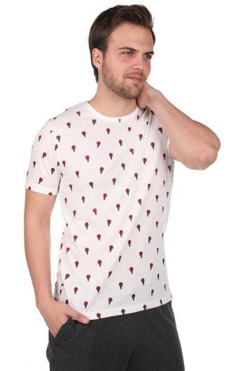 PHAZZ - Balon Desenli Erkek Bisiklet Yaka T-Shirt (1)