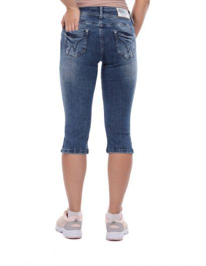 Banny Jeans - Banny Jeans İki Düğmeli Kadın Jean Kapri (1)