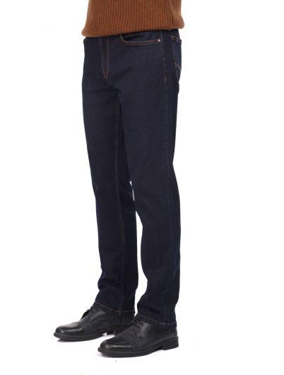 Мужские джинсы цвета индиго Banny - Thumbnail