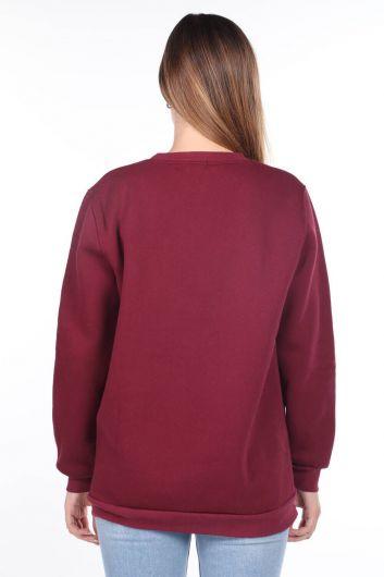 MARKAPIA WOMAN - Barcelona Espana Applique Women's Fleece Sweatshirt (1)
