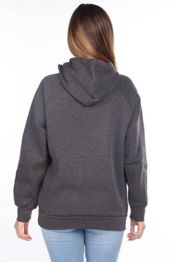 MARKAPIA WOMAN - Barcelona Espana Applique Fleece Hooded Sweatshirt (1)