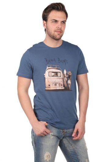 MARKAPIA MAN - Мужская футболка с круглым вырезом с принтом Beach Buys (1)