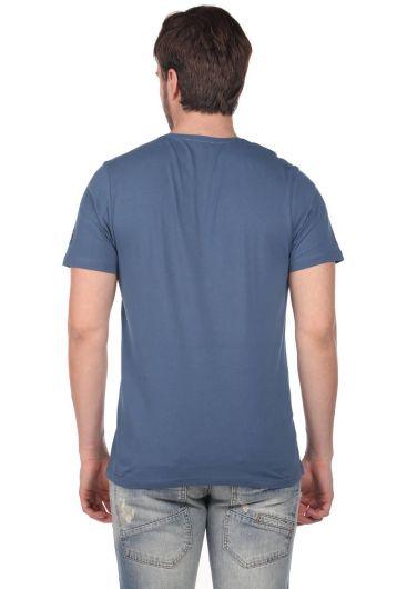 Beach Buys Baskılı Erkek Bisiklet Yaka T-Shirt - Thumbnail