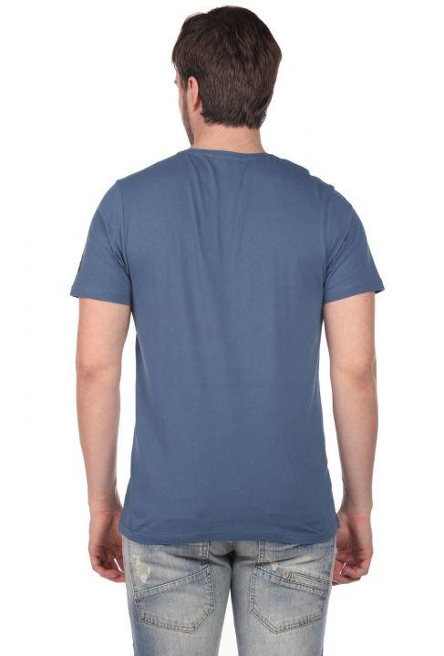 Beach Buys Baskılı Erkek Bisiklet Yaka T-Shirt
