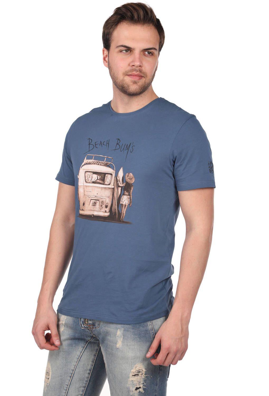 Мужская футболка с круглым вырезом и принтом Beach Buys
