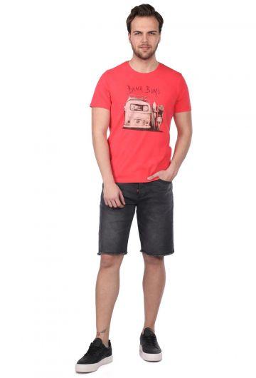 Мужская футболка с круглым вырезом и принтом Beach Buys - Thumbnail