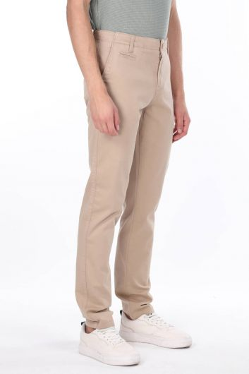 MARKAPIA MAN - Beige Men's Chino Trousers (1)