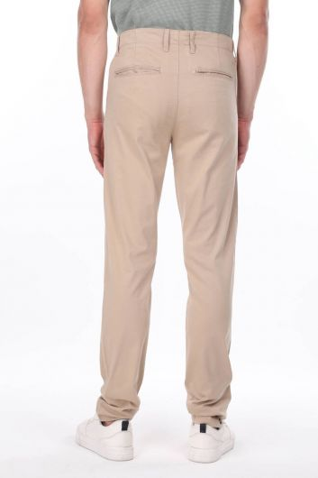 Beige Men's Chino Trousers - Thumbnail
