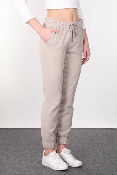 Beige Women's Jogger Trousers