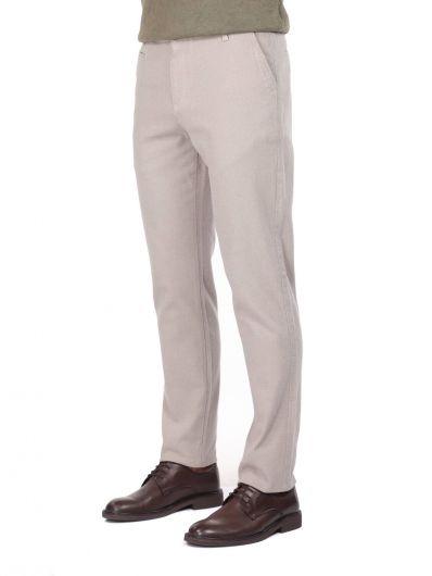 MARKAPIA MAN - Bej Comfort Erkek Chino Pantolon (1)
