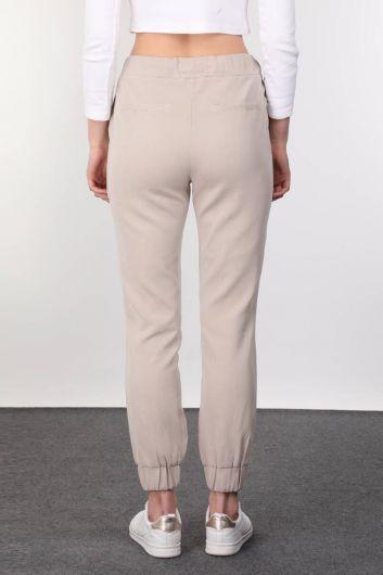 Bej Kadın Jogger Pantolon - Thumbnail