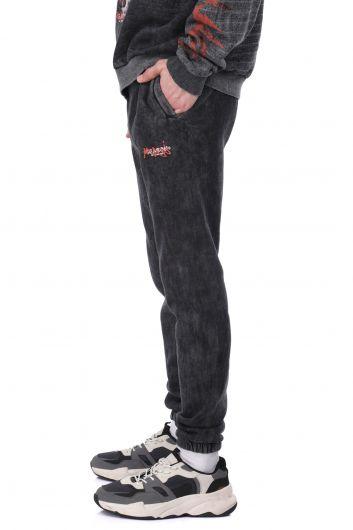 MARKAPIA MAN - بدلة رياضية رجالية مطبوعة مع صوف وخصر مرن وأساور (1)