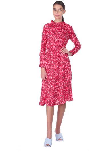 MARKAPIA WOMAN - Beli Lastikli Çiçek Desenli Elbise (1)