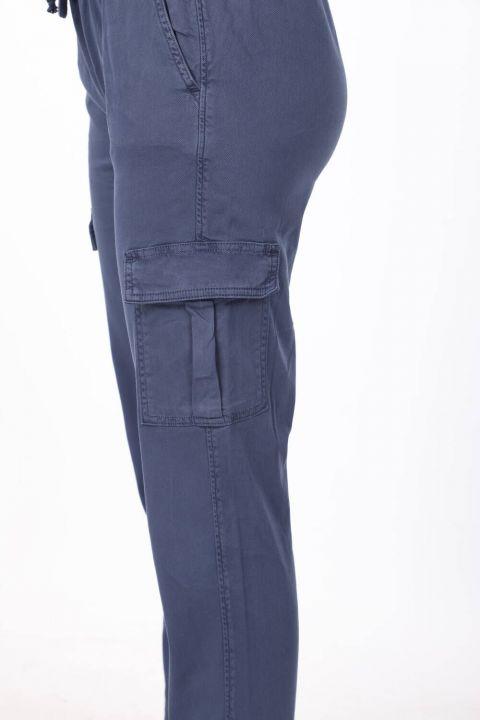 Beli Lastikli Kargo Cep Jean Pantolon