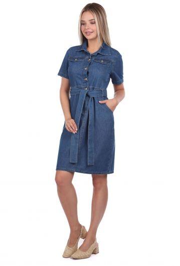 Banny Jeans فستان جينز بحزام - Thumbnail