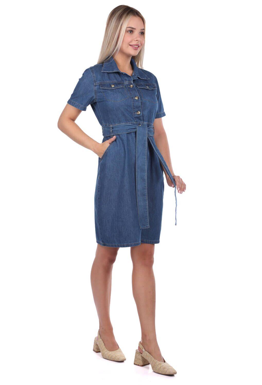 Джинсовое платье с поясом Banny Jeans