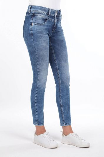 MARKAPİA WOMAN - Bias Detailed Jean Trousers (1)