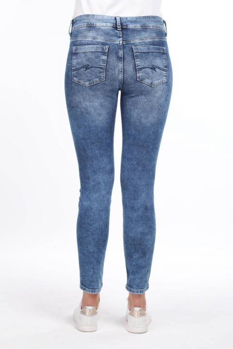 Bias Detailed Jean Trousers