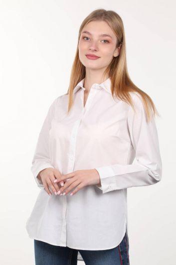 MARKAPIA WOMAN - Beyaz Boyfriend Kadın Gömlek (1)