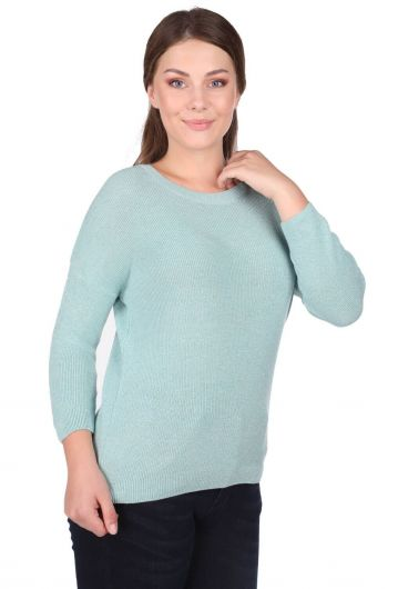MARKAPIA WOMAN - Женский трикотажный свитер с круглым вырезом (1)