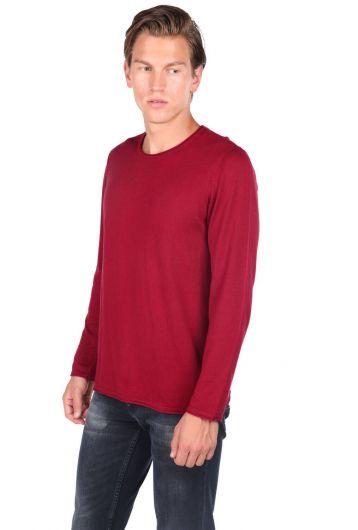 MARKAPIA MAN - Красный мужской свитер с круглым вырезом (1)