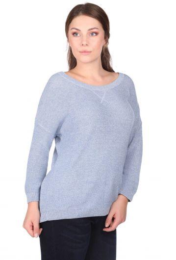MARKAPIA WOMAN - Трикотажный женский свитер с круглым вырезом (1)