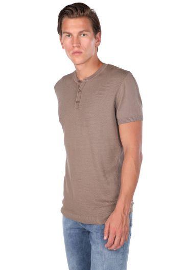 MARKAPIA MAN - Bisiklet Yaka Triko Erkek T-Shirt (1)