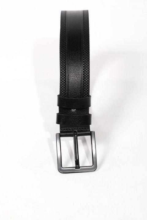 Black Men's Genuine Leather Belt