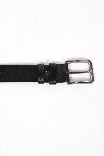 MARKAPIA MAN - حزام جلد طبيعي أسود للرجال (1)