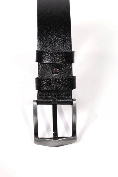 حزام جلد أصلي عادي للرجال