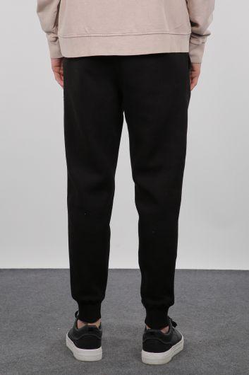Черные спортивные штаны мужской спортивный костюм для бега трусцой - Thumbnail