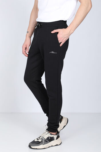 MARKAPIA - Black Sweatpants Men's Sweatpants (1)