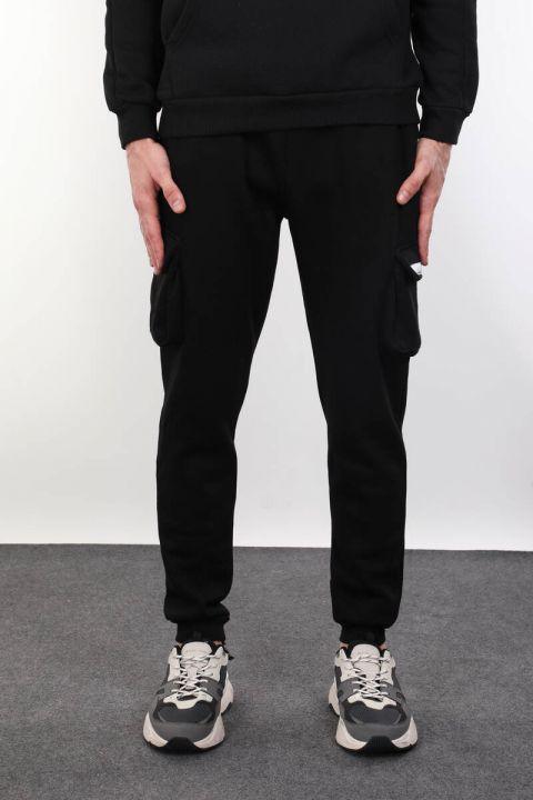 Black Sweatpants With Side Pockets
