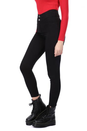 MARKAPIA WOMAN - Black Super Skinny Woman Jean Trousers (1)