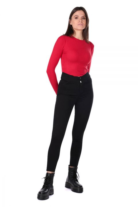 Black Super Skinny Woman Jean Trousers