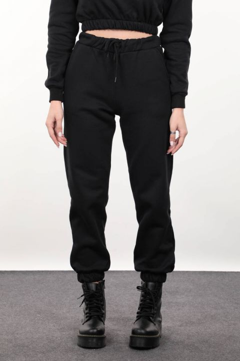Черные женские брюки-джоггеры