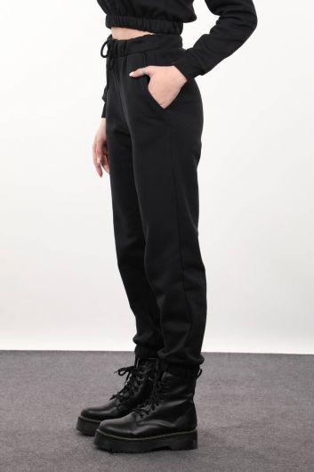 MARKAPIA WOMAN - Черные женские брюки-джоггеры (1)